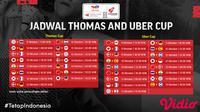 Jadwal Lengkap Piala Thomas dan Uber Cup 2020 di Vidio