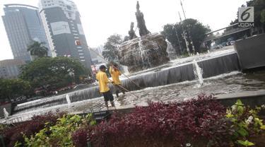 Patung Arjuna Wiwaha Turut Bersolek Sambut Kemerdekaan RI