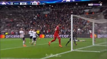 Bayern Munich melangkah ke babak perempat final Liga Champions setelah pada laga 16 besar leg kedua menang 3-1 atas Besiktas untuk mencatat keunggulan agregat 8-1. Thiago Alcantara dan Sandro Wagner berhasil menorehkan gol-gol di laga ini, termasuk s...