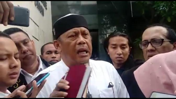 Eggi Sudjana diperiksa sebagai tersangka kasus makar di Polda Metro Jaya pada Senin 13 Mei 2019. (Merdeka.com/ Ronald)
