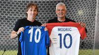 Roberto Baggio bersama Luka Modric di kegiatan amal (Ist)