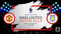 Manchester United vs Aston Villa (Liputan6.com/Abdillah)