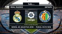 La Liga 2018/2019 Real Madrid Vs Getafe (Bola.com/Adreanus Titus)