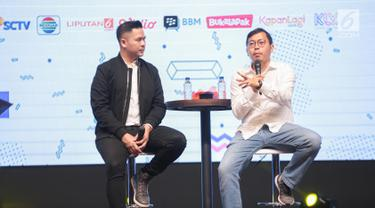 Ceo dan Founder Bukalapak Achmad Zaki memberikan sharing inspirasi saat menjadi pembicara dalam EGTC 2018 di Universitas Kristen Petra Surabaya, Jawa Timur, Rabu (14/11). EGTC 2018 ini diadakan 13-15 Oktober 2018. (Liputan6.com/Faizal Fanani)