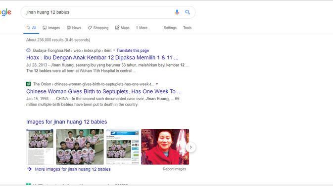 [Cek Fakta] Ibu Terpaksa Membunuh 11 dari 12 Bayi Kembar yang Dilahirkan? Ini Faktanya (Google Search)