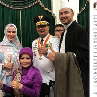 Kartika Putri mengucapkan selamat kepada Ridwan Kamil (Instagram/@kartikaputriworld)