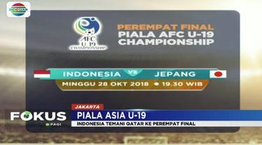 Berhasil kalahkan Timnas Uni Emirat Arab, Timnas U-19 Indonesia lolos ke babak perempat final Piala Asia.