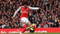 Gelandang Arsenal asal Mesir, Mohamed Elneny. (AFP/Ben Stansall)