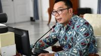 Gubernur Jabar Ridwan Kamil saat memberikan arahan dalam webinar Kegiatan Peningkatan Pemahaman Ideologi Pancasila bagi ASN Provinsi Jabar di Gedung Pakuan, Kota Bandung, Selasa (29/6/2021). (Foto: Yogi P/Biro Adpim Jabar)
