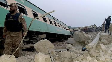 Kecelakaan kereta api di Pakistan