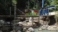 Lokasi turbin PLMH Pertamina berada berada di dekat aliran air Danau Ranau Kabupaten OKU Selatan (Liputan6.com / Nefri Inge)