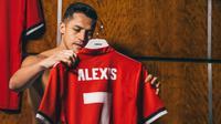 Alexis Sanchez resmi bergabung ke Manchester United pada Senin (22/1/2018). (dok. Manchester United)