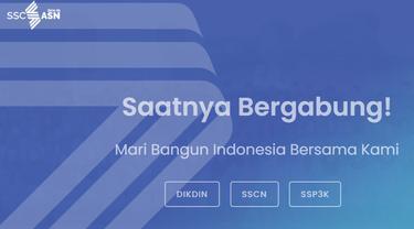 Situs SCCSN di sscasn.go.id.