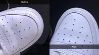Cara simpel hilangkan garis di sepatu yang viral di media sosial. (dok. Twitter @shanteldebonsu)