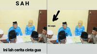 pria jadi saksi pernikahan mantan (foto: Facebook/Asikinero Rideoda Lean)