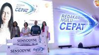 Peluncuran Sensodyne Rapid Relief di Jakarta, Jumat (1/3).