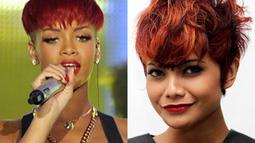 Banyak yang bilang jika gaya rambut Citra Scholastika mengikuti gaya rambut penyanyi Amerika, Rihanna. (Istimewa)