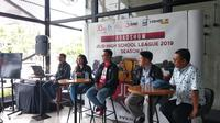 Sesi konferensi pers launching roadshow High School League 2019, di Jakarta, Rabu (13/2/2019).