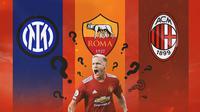 Ilustrasi - Donny van de Beek, Inter Milan, AS Roma, AC Milan (Bola.com/Adreanus Titus)