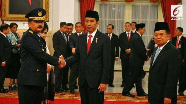 Presiden Joko Widodo resmi mengajukan nama Kepala Staf TNI Angkatan Udara Marsekal Hadi Tjahjanto