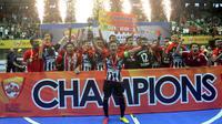 Black Steel Manokwari Papua mencetak sejarah dengan menjadi juara Pro Futsal League 2016.