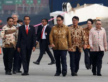 Jokowi Tinjau Ekspor Perdana Mitsubishi Xpander ke Filipina