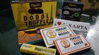 Salah satu olahan cokelat baru adalah memadukan ranginang dengan cokelat Garut. (Liputan6.com/Jayadi Supriadin)