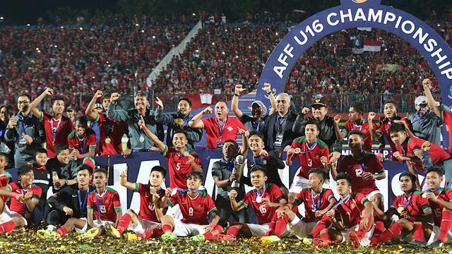 Hasil gambar untuk indonesia u 16 juara