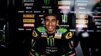Hafizh Syahrin menatap MotoGP 2018 dengan positif (twitter Monster Yamaha Tech3)