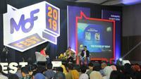 Wali Kota Surabaya Tri Rismaharini menjadi pembicara dalam acara Ministry of Finance Festival (MOFEST) 2019 yang digelar oleh Kementerian Keuangan RI di Dyandra Convention, Surabaya (Foto: Liputan6.com/Dian Kurniawan)