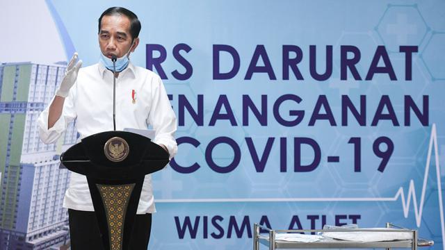 Jokowi Pastikan RS Darurat Siap Beroperasi