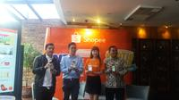 Aplikasi marketplace Shopee menggratiskan ongkos kirim bagi pembelinya di seluruh Indonesia