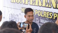 Tersangka penculikan gadis muda di Pemalang, Tasima (28 th), residivis yang mengaku polisi. (Foto: Liputan6.com/Polres Pemalang/Muhamad Ridlo)