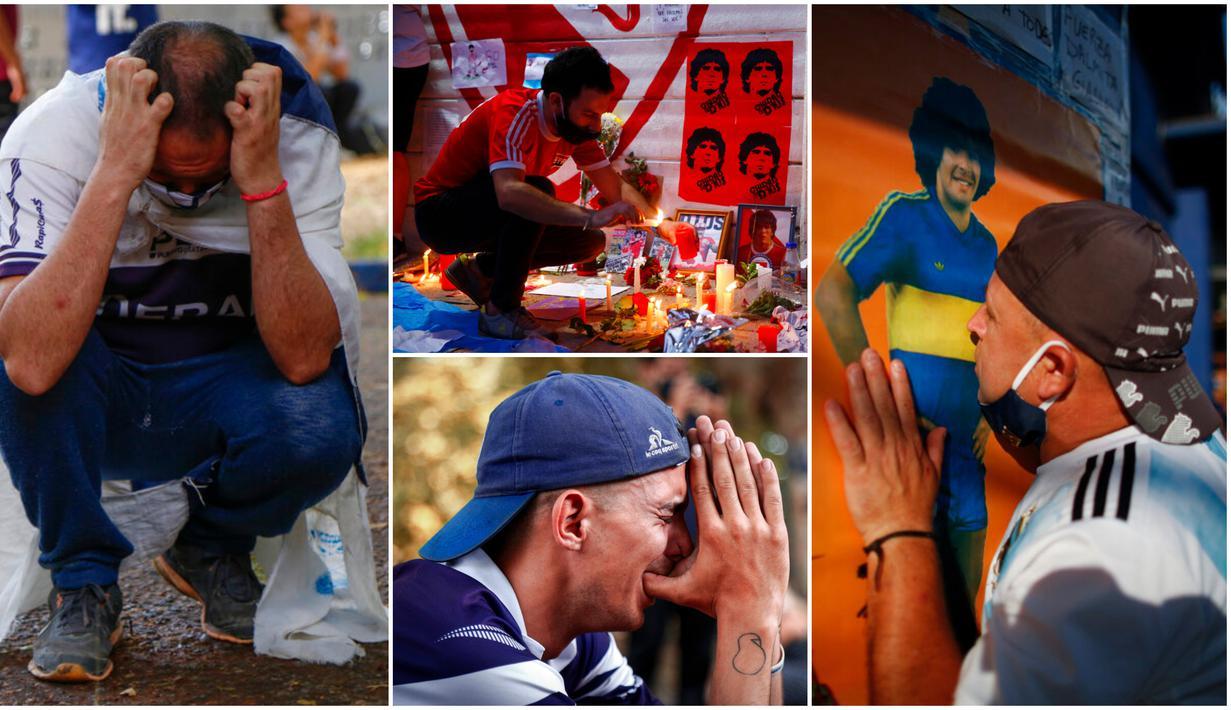 Duka mendalam dirasakan rakyat Argentina usai meninggalnya legenda sepak bola mereka, Diego Maradona. Pemilik gol tangan tuhan itu meninggal dunia pada usia 60 tahun setelah mengalami serangan jantung.