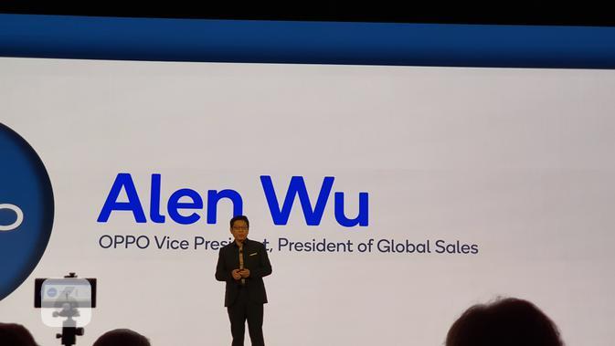 VP sekaligus President of Global Sales Oppo Alen Wu (Liputan6.com/ Agustin Setyo W).