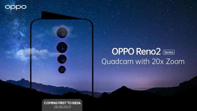 Oppo ungkap Reno 2, smartphone dengan empat kamera berkemampuan 20x zoom. (Doc: Oppo)