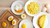 Ilustrasi sarapan olahan dari telur.