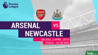 Premier League: Arsenal vs Newcastle United. (Bola.com/Dody Iryawan)