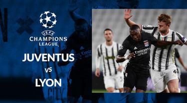 Berita motion grafis statistik Juventus vs Olympique Lyon pada 16 besar Liga Champions 2019-2020 leg kedua, Sabtu (8/8/2020) di Allianz Stadium, Turin.