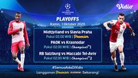 Live streaming babak playoff Liga Champions kini bisa di Vidio.