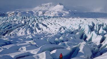 Gletser Breiðamerkurjökull di Islandia