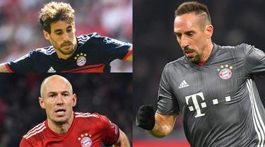 Bayern Munchen memulai musim Bundesliga dengan catatan buruk.  Munchen saat ini masih kesulitan menghancurkan dominasi Borussia Dortmund yang begitu. Munchen harus segera merombak skuatnya di transfer januari. (Kolase Foto AFP)