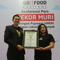 Go Food Festival dari Gojek Cetak Rekor MURI. foto: istimewa/dok. Gojek Group