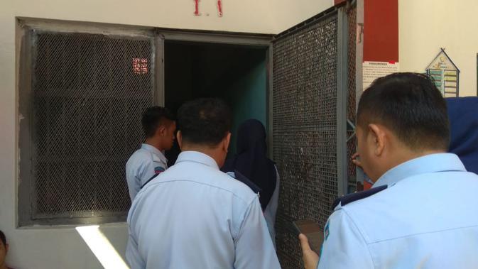 Ruang isolasi tempat Akbar Daeng Ampu ditahan (Fauzan/Liputan6.com)