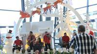 Suasana Natal di Bandara Soekarno-Hatta (Liputan6.com/ Pramita Tristiawati)