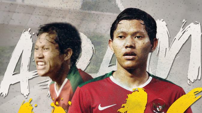 Adam Alis saat membela Timnas Indonesia. (Bola.com/Dody Iryawan)