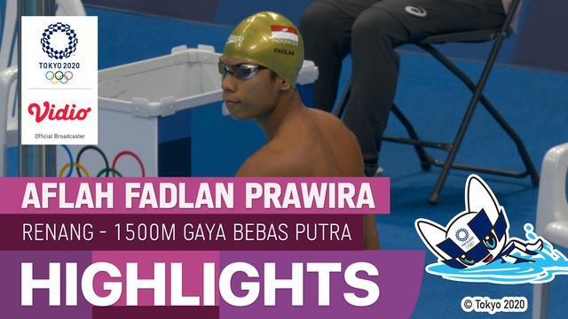 Berita Video Langkah Aflah Fadlan Prawira Harus Terhenti di Babak Kualifikasi Renang 1500 Meter Olimpiade Tokyo 2020