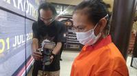 NS nekat menjadi kurir narkoba di Kota Palembang, untuk memenuhi kebutuhan hidupnya sehari-hari (Liputan6.com / Nefri Inge)