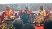 Menteri Pariwisata Arief Yahya saat acara Destinasi Gastronomi Dunia di Gedung Soesilo Sudarman, Kementerian Pariwisata, Jakarta (Liputan6.com/Komarudin)