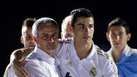 Jose Mourinho dan Cristiano Ronaldo ketika di Real Madrid. (AFP/Jamie Reina)